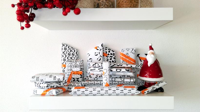 schöne Weihnachtsdeko: Adventskalender