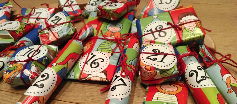 24 Geschenke verpacken