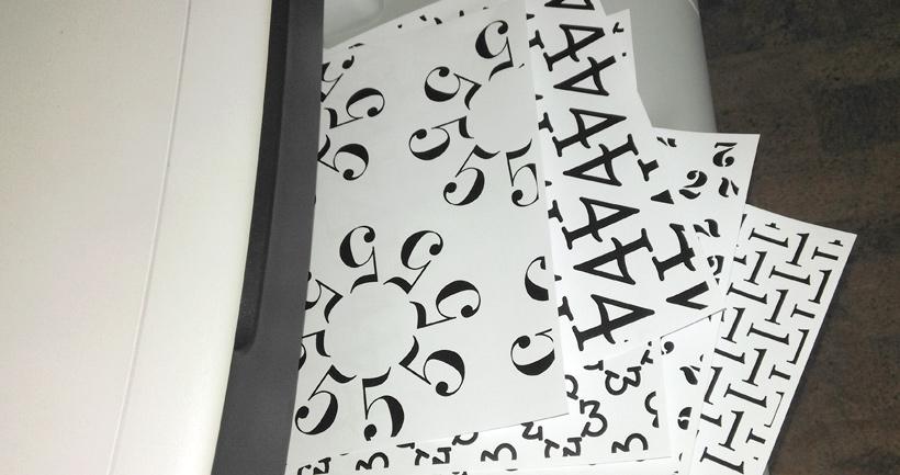 Zahlen-Geschenkpapier zum selber drucken